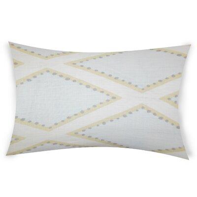 Espy Linen Lumbar Pillow Color: White