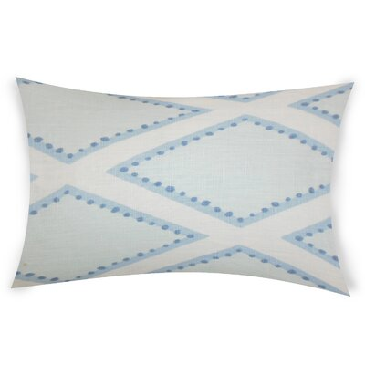 Espy Linen Lumbar Pillow Color: Blue