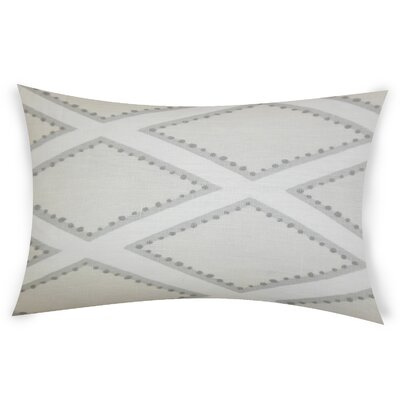 Espy Linen Lumbar Pillow Color: Navy
