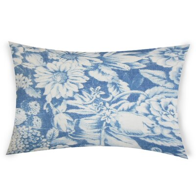 Esqueda Linen Lumbar Pillow Color: Blue