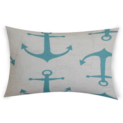 Difiore Cotton Lumbar Pillow Color: Light Blue