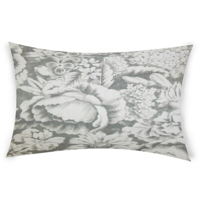 Esqueda Linen Lumbar Pillow Color: Gray