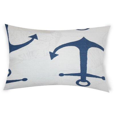Difiore Cotton Lumbar Pillow Color: Blue