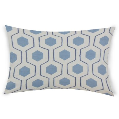 Ohearn Cotton Lumbar Pillow Color: Blue