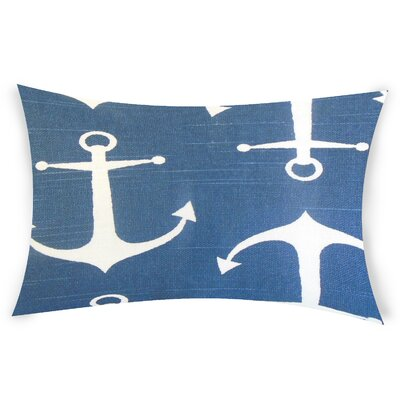 Diggs Cotton Lumbar Pillow Color: Blue