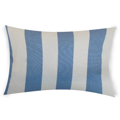 Colvard Cotton Lumbar Pillow Color: Blue