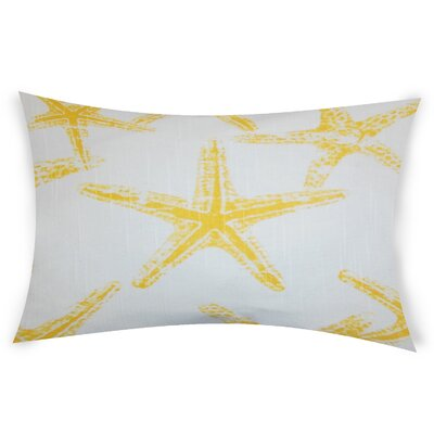 Hearns Cotton Lumbar Pillow Color: Yellow
