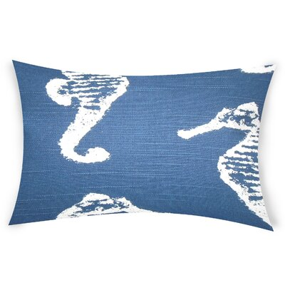 Heasley Cotton Lumbar Pillow Color: Blue