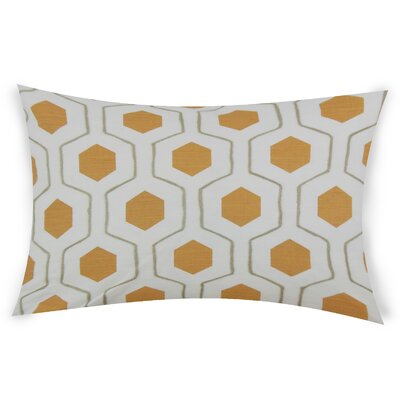 Ohearn Cotton Lumbar Pillow Color: Orange