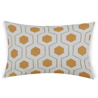 Ohearn Cotton Lumbar Pillow Color: Orange