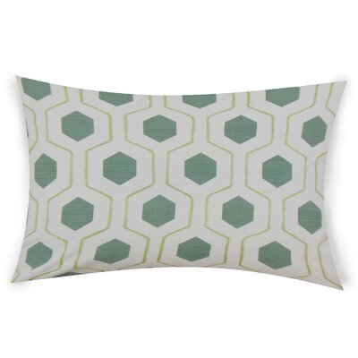 Ohearn Cotton Lumbar Pillow Color: Turquoise
