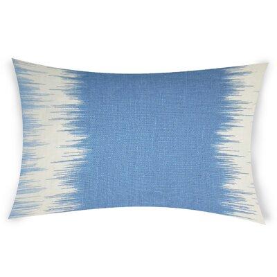 Egan Linen Lumbar Pillow Color: Blue