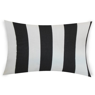 Colvard Cotton Lumbar Pillow Color: Black