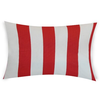 Colvard Cotton Lumbar Pillow Color: Red