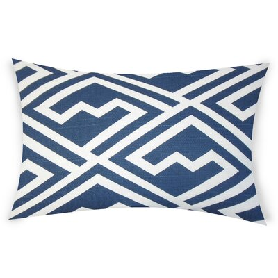 Ogrady Cotton Lumbar Pillow Color: Blue