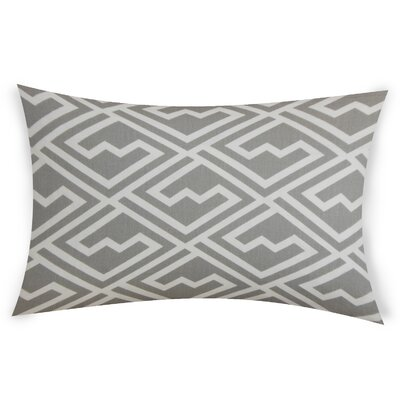 Ogrady Cotton Lumbar Pillow Color: Gray