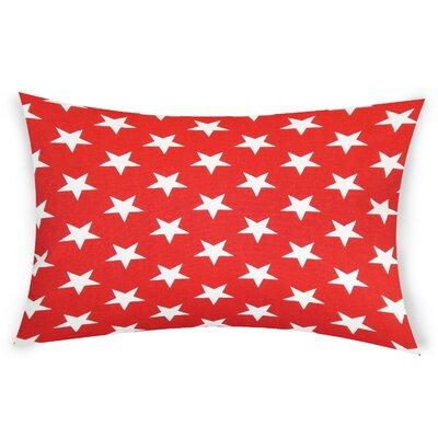 Fegley Cotton Lumbar Pillow Color: Red