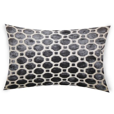 Ogata Velvet Lumbar Pillow Color: Black