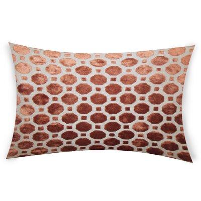 Ogata Velvet Lumbar Pillow Color: Brown