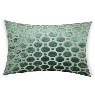 Ogata Velvet Lumbar Pillow Color: Green