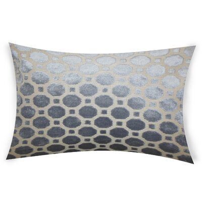Ogata Velvet Lumbar Pillow Color: Gray