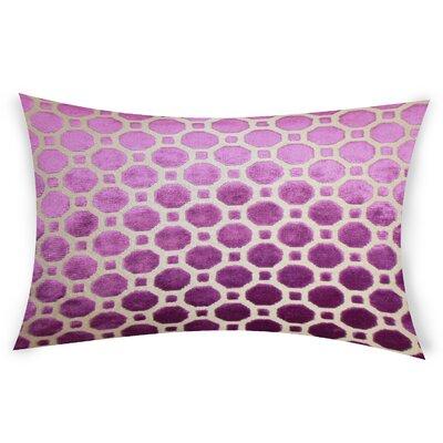 Ogata Velvet Lumbar Pillow Color: Pink