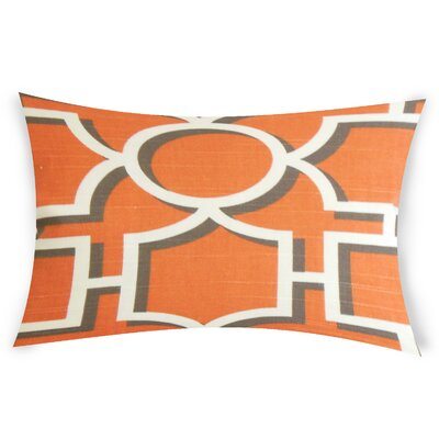 Espitia Cotton Lumbar Pillow Color: Orange