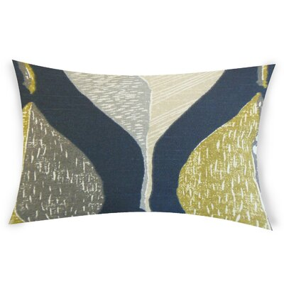 Ogren Cotton Lumbar Pillow Color: Indigo