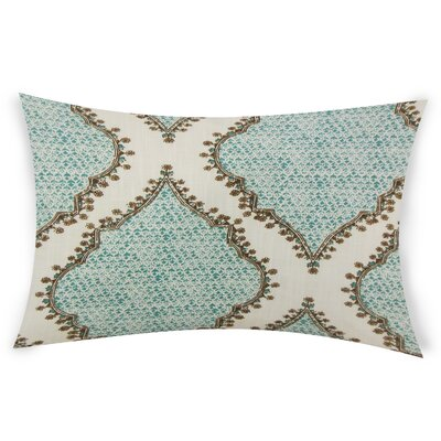 Esposito Cotton Lumbar Pillow Color: Turquoise