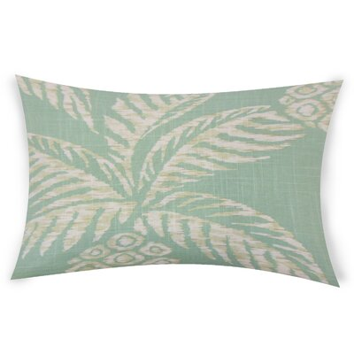 Barton Point Cotton Lumbar Pillow Color: Turquoise