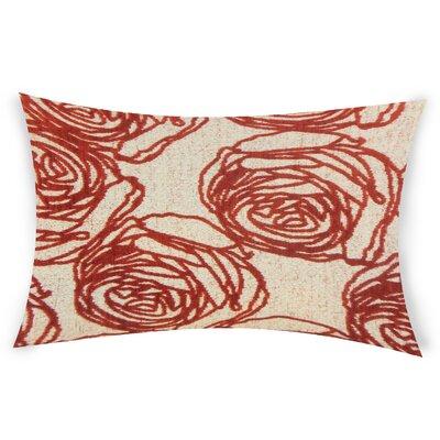 Mccool Lumbar Pillow Color: Red