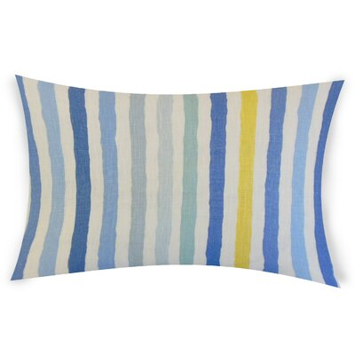 Gladwin Linen Lumbar Pillow Color: Blue