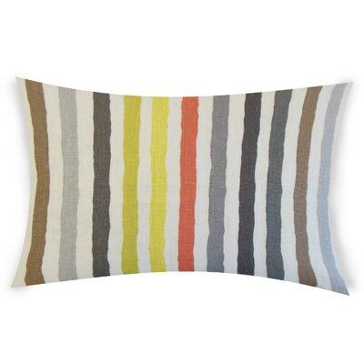 Gladwin Linen Lumbar Pillow Color: Gray/Brown
