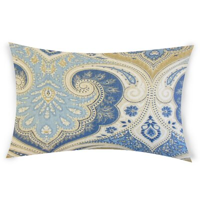 Erdman Linen Lumbar Pillow Color: Blue