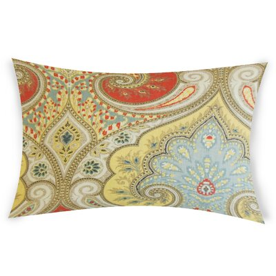 Erdman Linen Lumbar Pillow Color: Orange/Beige