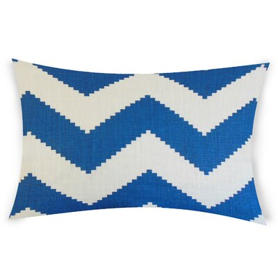 Colosimo Linen Lumbar Pillow Color: Turquoise