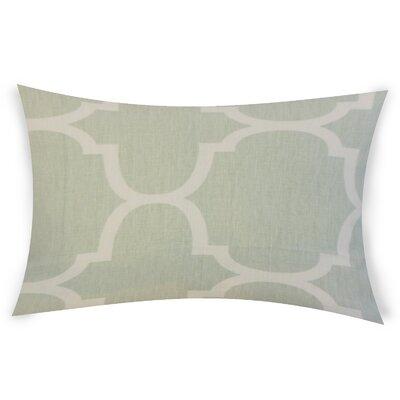 Mcconkey Linen Lumbar Pillow Color: Green