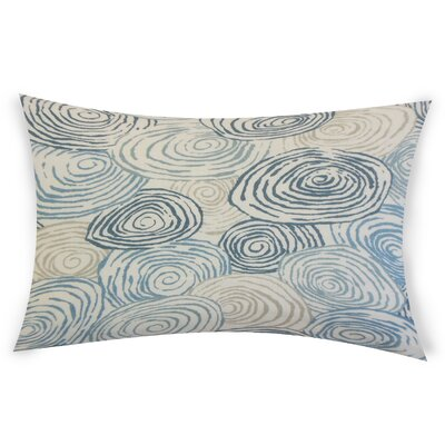 Oberry Linen Lumbar Pillow Color: Blue