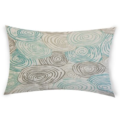 Oberry Linen Lumbar Pillow Color: Turquoise