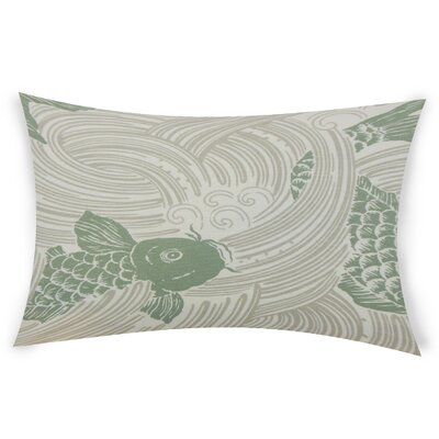 Hayek Cotton Lumbar Pillow Color: Green