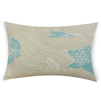 Hayek Cotton Lumbar Pillow Color: Light Blue