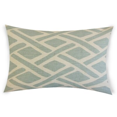 Glenisle Linen Lumbar Pillow Color: Sky Blue