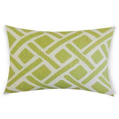 Erlandson Linen Lumbar Pillow Color: Green