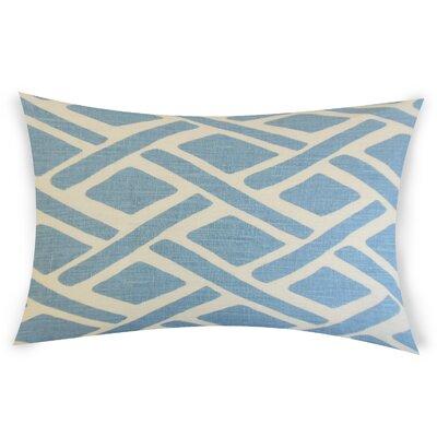 Glenisle Linen Lumbar Pillow Color: Blue