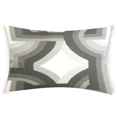 Oconner Cotton Lumbar Pillow Color: White