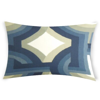 Oconner Cotton Lumbar Pillow Color: Blue