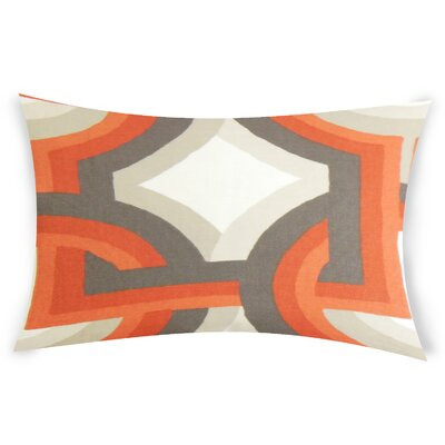 Oconner Cotton Lumbar Pillow Color: Orange