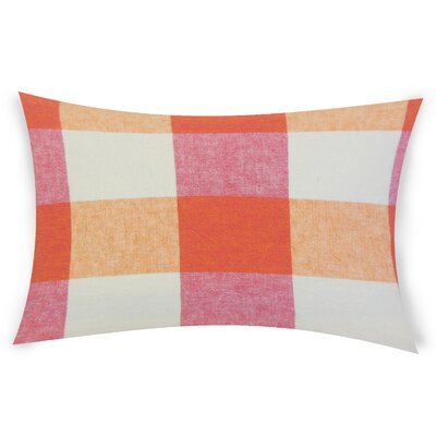 Feemster Linen Lumbar Pillow Color: Pink