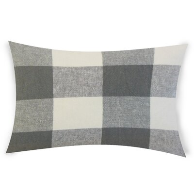 Feemster Linen Lumbar Pillow Color: Gray