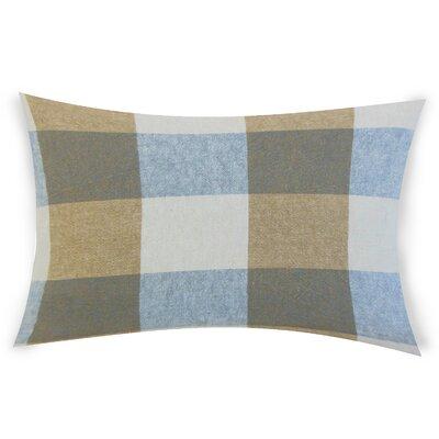 Feemster Linen Lumbar Pillow Color: Blue